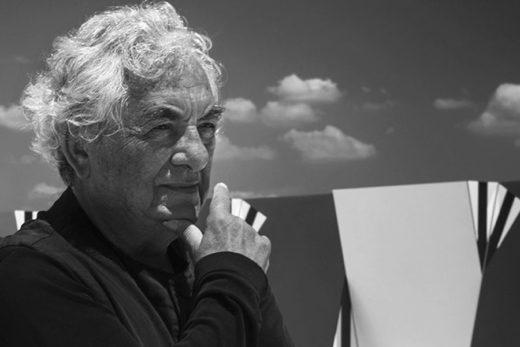 L'artiste Daniel Buren - Photo Noir & Blanc