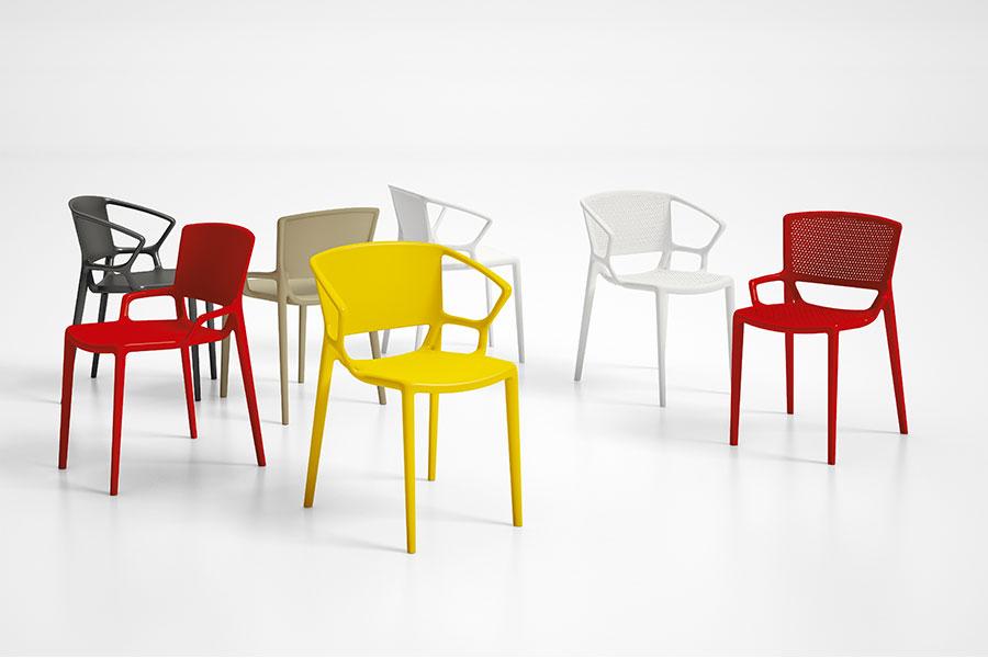 chaise jardin colorées