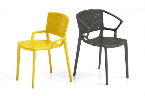 Chaises outdoor jaunes et noires Fiorellina