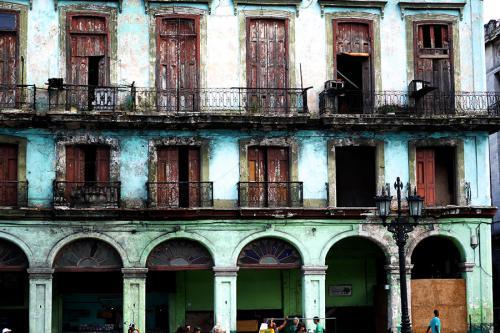 Vieille façade de maison à La Havane