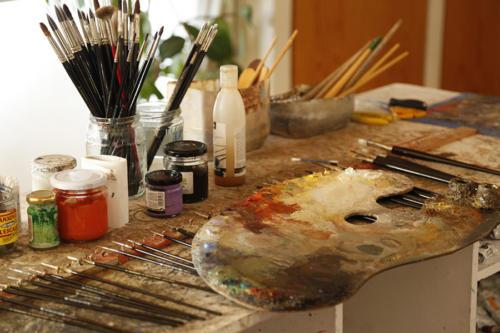 L'atelier du peintre Magi Puig