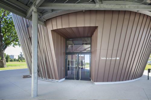 Porte aluminium Pazco, entrée de la salle du conseil de la COPAMO